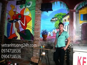 Tranh tường cafe 13