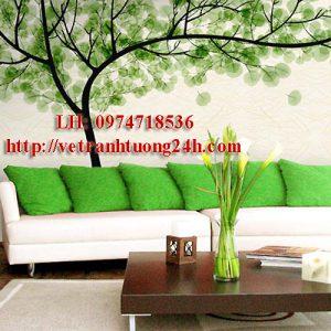 Mẫu tranh tường phòng khách MS09
