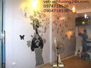 Tranh tường cafe 9