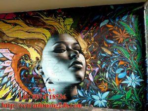 Mẫu tranh tường quán cafe MS14