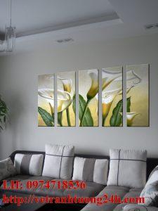Mẫu tranh tường phòng khách MS15