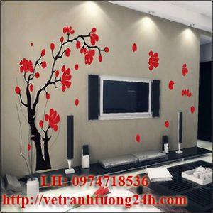Mẫu tranh tường phòng khách MS05