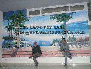 Tranh tường cafe 6