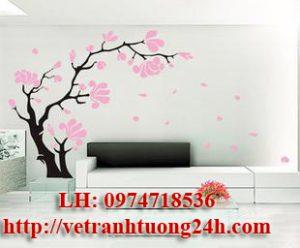 Mẫu tranh tường phòng khách MS04