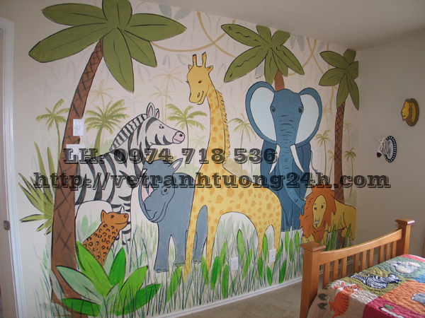 Animals-Kids-Mural-Ideas