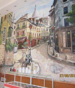 Tranh tường cafe 103 Hà Đông