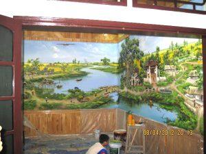 Tranh tường nhà anh Thọ ở Xa La, Hà Nội