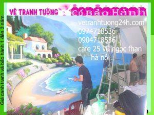Tranh tường 3D, tranh tường cafe 25 Vũ Ngọc Phan- Hà Nội