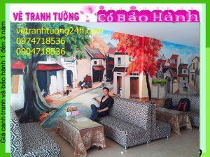Tranh tường 3D, cafe quán 103 Hà Đông, Hà Nội