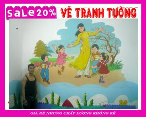 Tranh tường mầm non Kidhouse 27/191 Minh Khai, Hà Nội