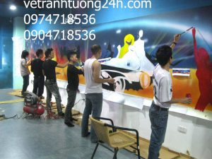 Tranh tường 3D siêu thị HIWAY Hà Đông, Hà Nội