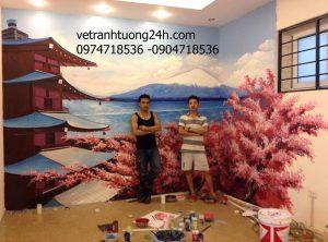 Tranh nhà hàng Nhật- Trần Thánh Tông, Hà Nội