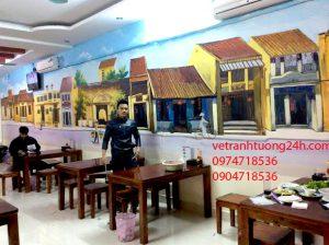 Tranh quán Hoàng Bèo 45lk6a làng Việt kiều châu Âu