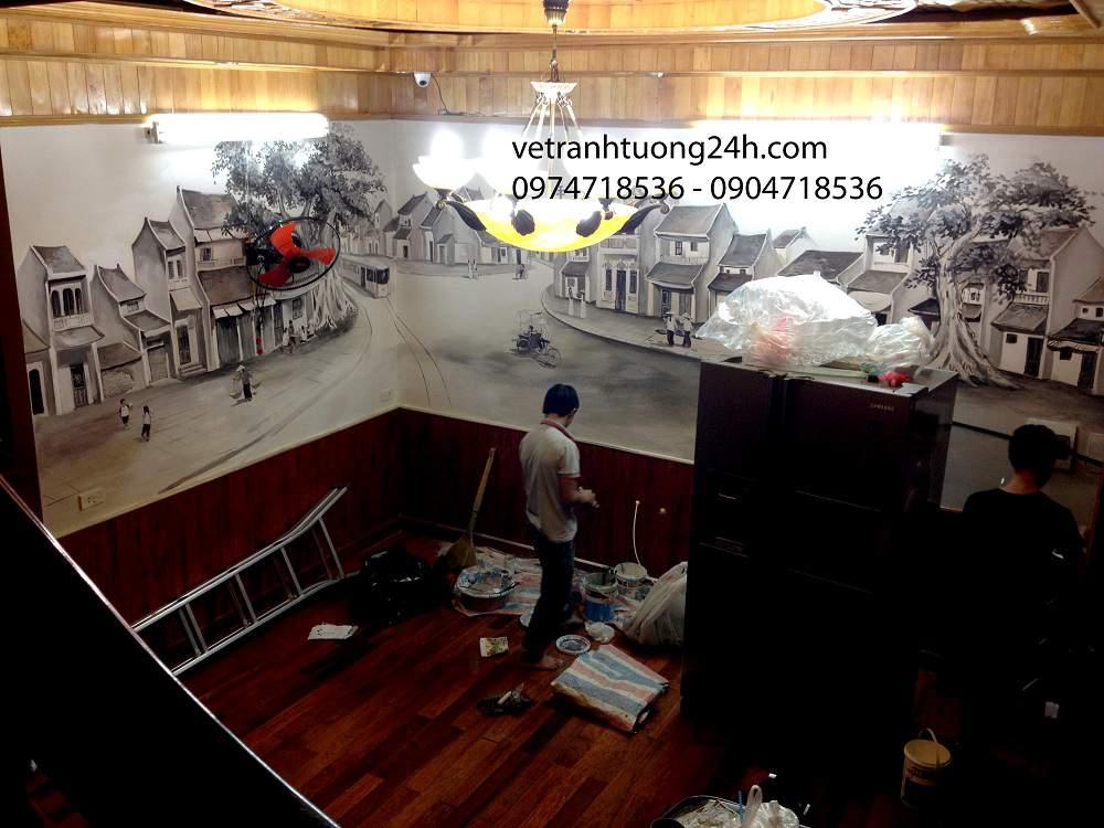 tranh tuong cafe 28 hang giay
