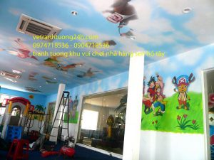 Tranh 3D – khu vui chơi Sen Hồ Tây