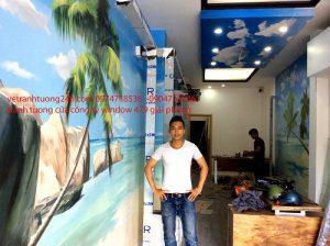 Tranh tường biển của công ty window 479 giải phóng Hà Nội