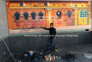 Tranh tường cafe snow ILAND cổng BigC Thăng Long