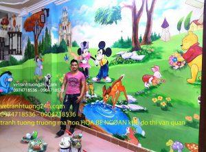 Tranh mầm non Hoa Bé Ngoan tại KĐT Văn Quán
