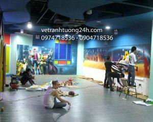 Tranh tường khu vui chơi thương mại Hiway Hà Đông
