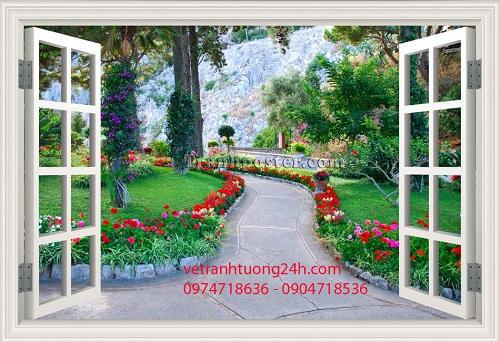 tranh tuong 3d cua so hoa