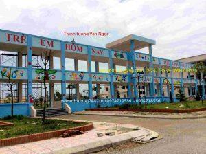 Vẽ tranh tường bệnh viện nhi-phụ sản thành phố Bắc Ninh