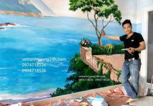 Vẽ tranh tường karaoke Luxury Trâu Quỳ Gia Lâm