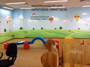 Vẽ tranh tường mầm non CANADA tầng 10 Parkson Thái Hà