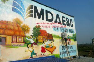Tranh tường công ty Hàn Quốc M.D.A.E và C Phổ Yên Thái Nguyên