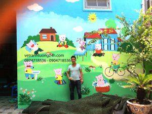 Tranh tường mầm non GÀ TRỐNG VÀNG 167 thôn Nhang Xuân Đỉnh Hà Nội