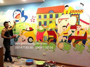 Vẽ Tranh tường ngộ nghĩnh phòng bé CT2 làng Việt kiều Châu Âu Hà Đông