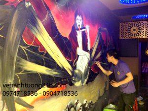 Tranh tường sàn-bar , cafe tầng 4 khách sạn Vision thành phố Ninh Bình