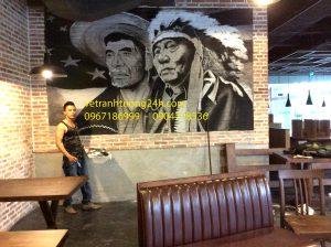 Tranh tường nhà hàng cổng vàng GOLDEN GATE cowboy jack 8 Tràng Thi Hoàn Kiếm