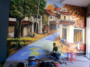 Tranh tường cafe ngõ 16420 Ngọc Hồi Thanh Trì Hà Nội