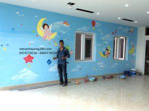 Tranh tường mầm non Kids Hous thị trấn Đông Anh Hà Nội