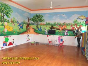 Tranh tường mầm non Hải Phòng DOREMON 488 Mạc Dăng Doanh