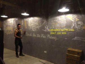 Tranh tường nhà hàng An Biên 3 14b Lo Sũ Hà Nội