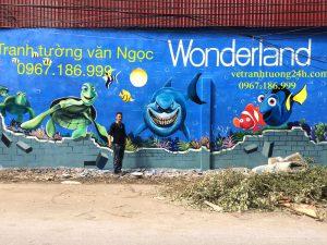 Vẽ tranh tường khu vui chơi Wonderland – Cầu Lim – TP Ninh Bình