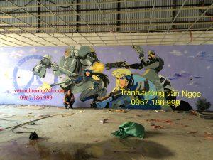 Tranh tường khu vui chơi Cầu Lim thành phố Ninh Bình