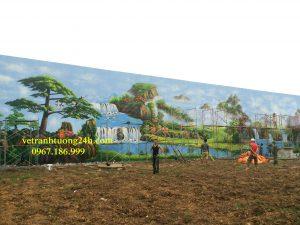 Tranh tường trường kỹ thuật công binh ,Sơn Tây Ba Vì