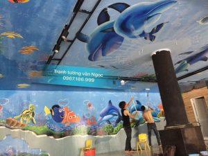 Vẽ Tranh tường khu vui chơi thị trấn Nông Cống Thanh Hóa
