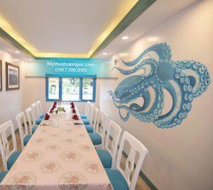 Tranh tường nhà hàng 3D hải sản