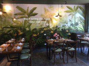 Tranh tường nhà hàng 3D, phong cách cổ xưa